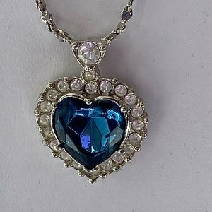 Avon Blue Heart Titanic necklace - vintage